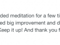 Guided Meditation testimonial 40