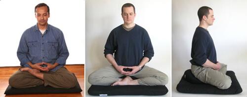 Tipos de meditação - postura zazen