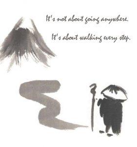 walking meditation attitude