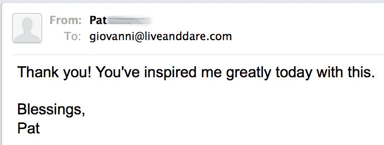 ✓ LiveAndDare newsletter testimonials 2