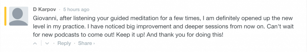 Guided meditations testimonials 2