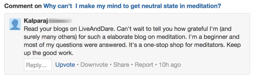 LiveAndDare blog testimonial 16