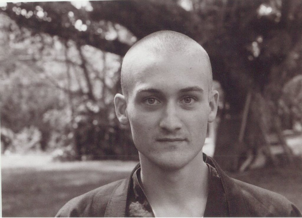 Giovanni Dienstmann photo with shaved head and Zen buddhist clothes