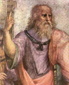 Greek philosopher Plato and Greek Meditation