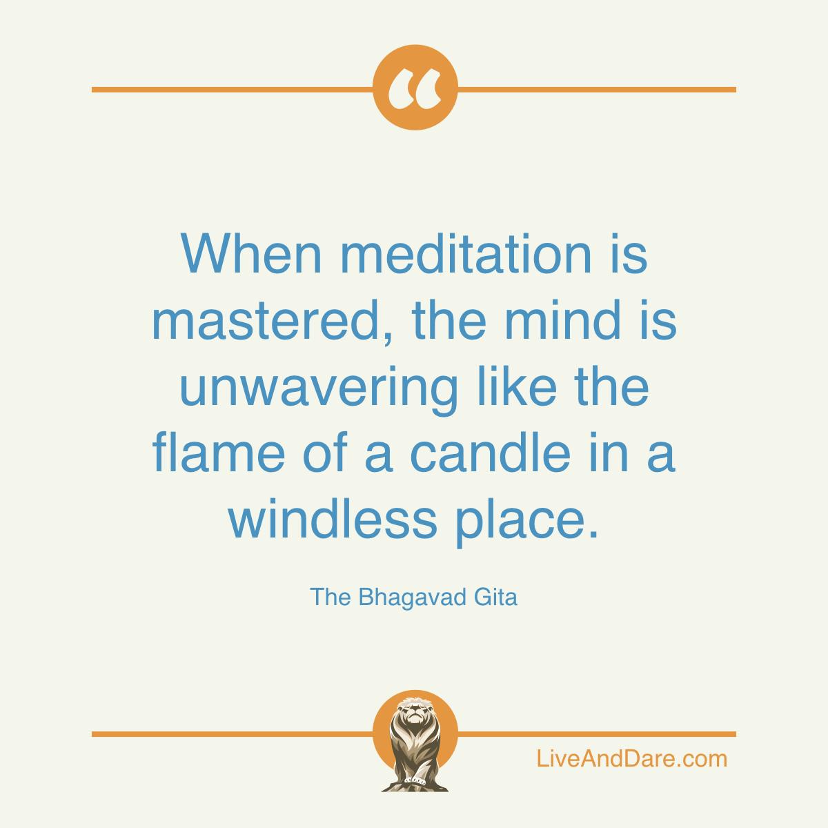 Meditation Quote from The Bhagavad Gita