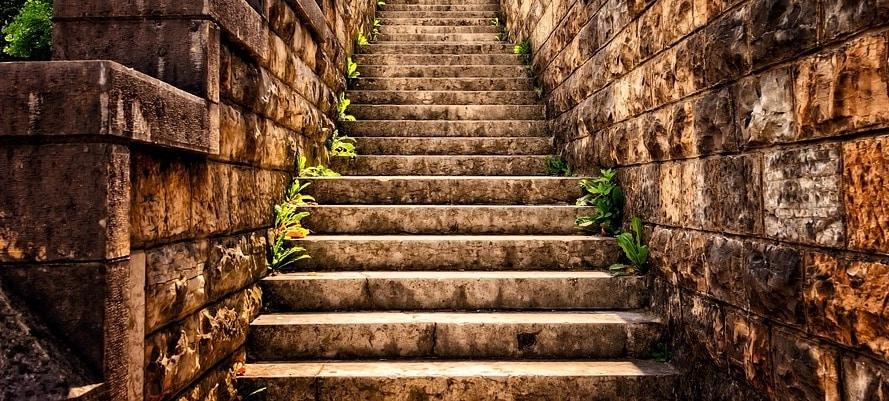 self discipline coaching metaphor stairs