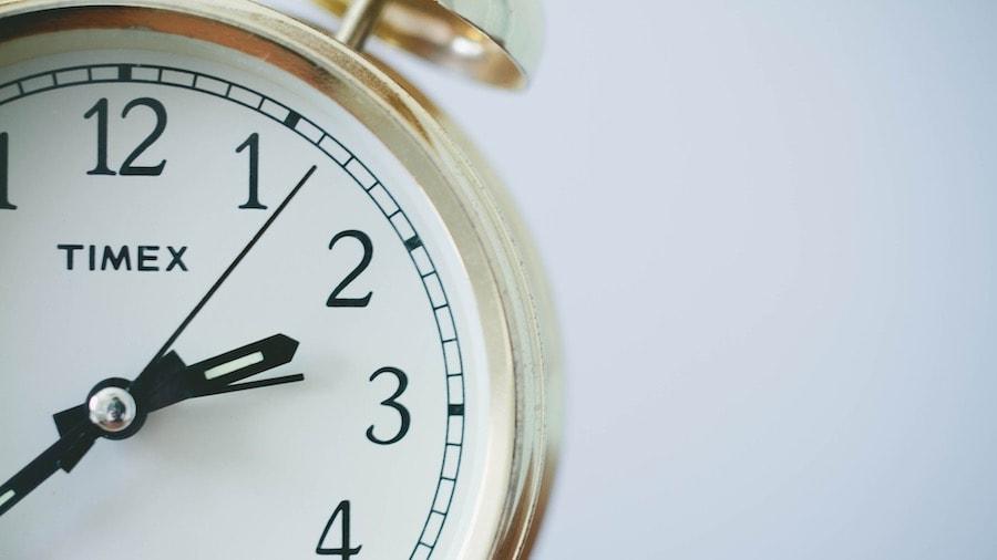 Clock showing on demand meditation