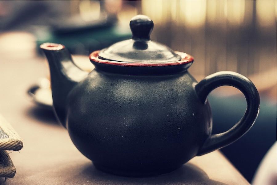 tea pot in early morning